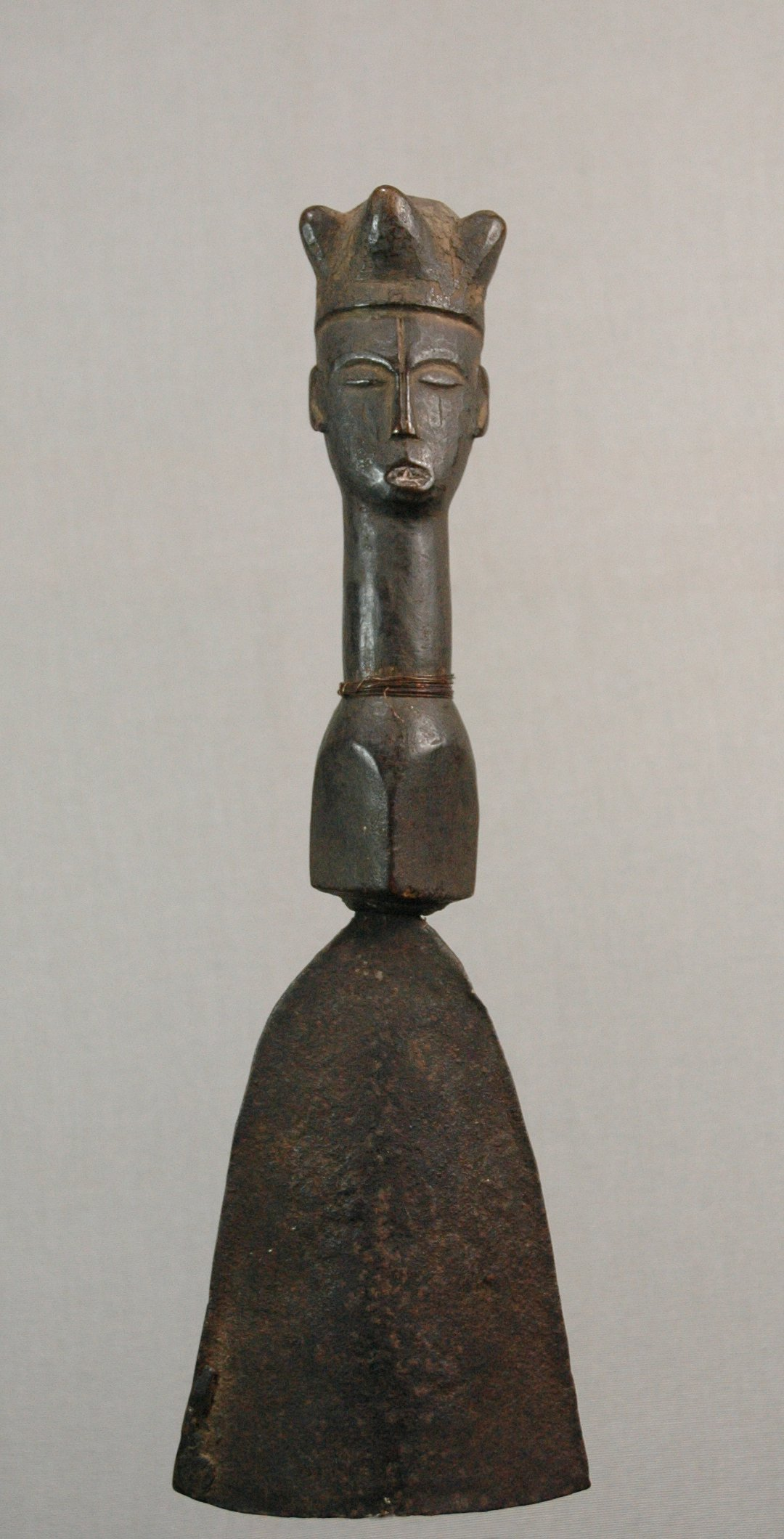 Igbo gong with a head